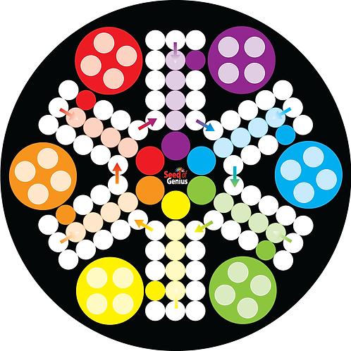 Premium Acrylic Family Ludo ~ 6 Players Round