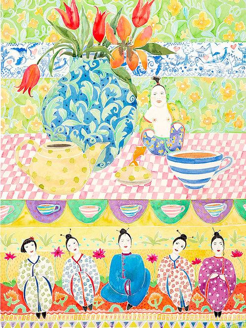 Japanese girls print