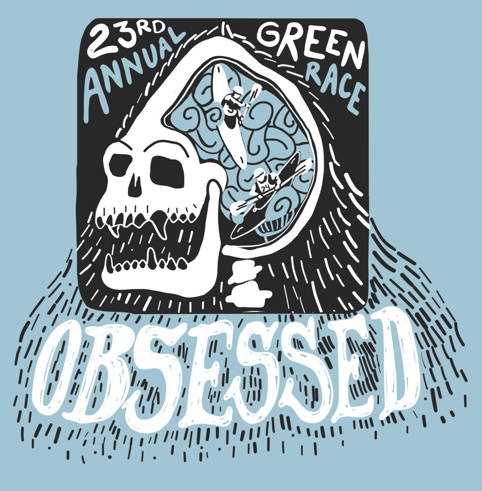 2018 Green Race T shirt design sketch