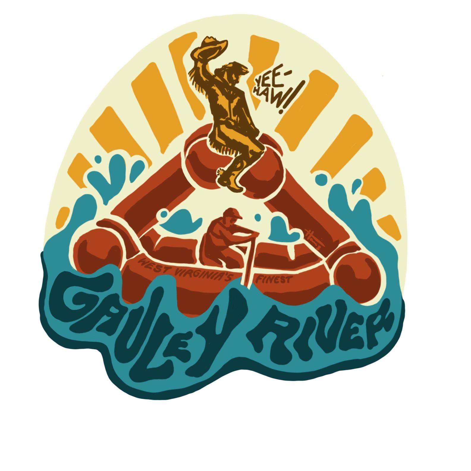 Gauley River creature craft sticker design