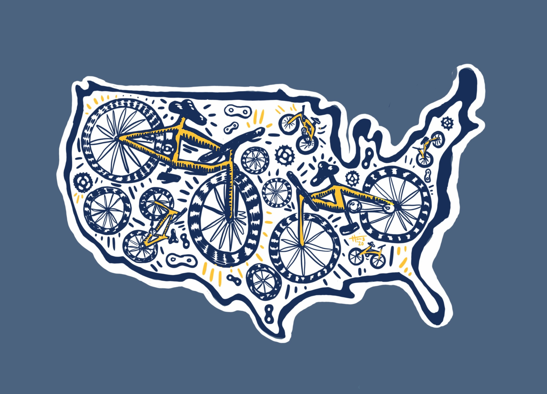 2020 Wilderness Voyageurs bike tour shirt design