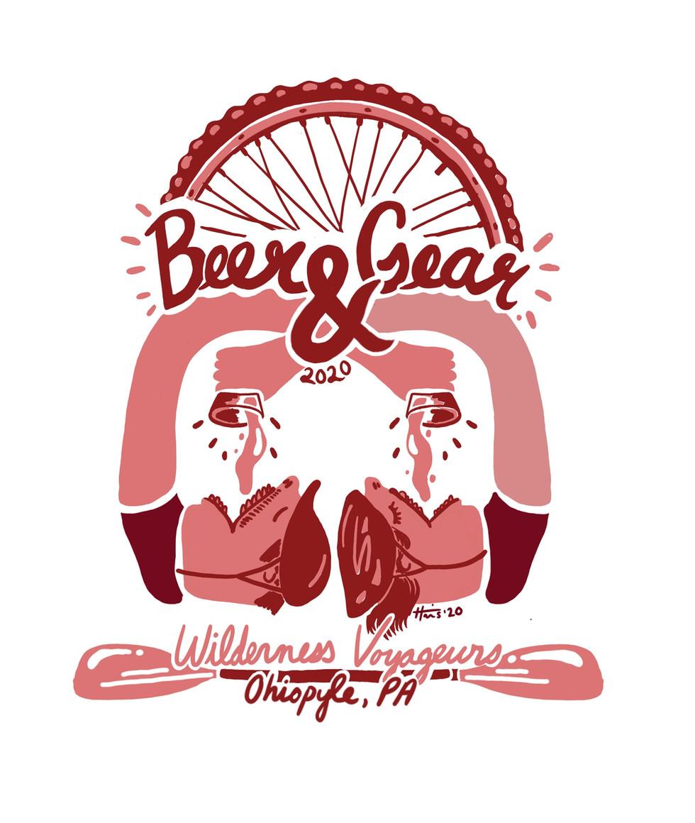 2020 Wilderness Voyageurs Beer & Gear pint glass design