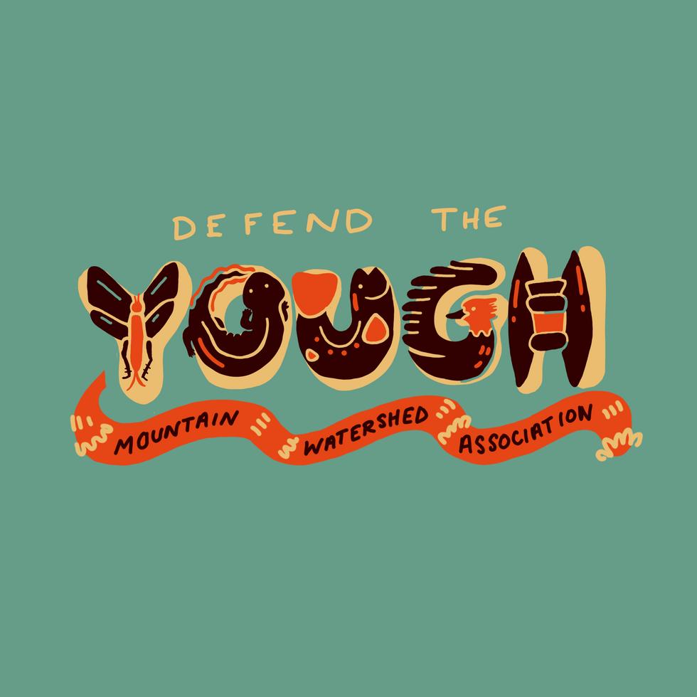Yough Defense Fund merch design
