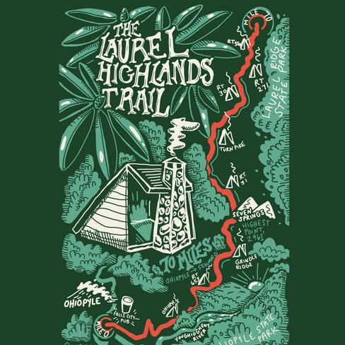 Laurel Highlands Trail Map