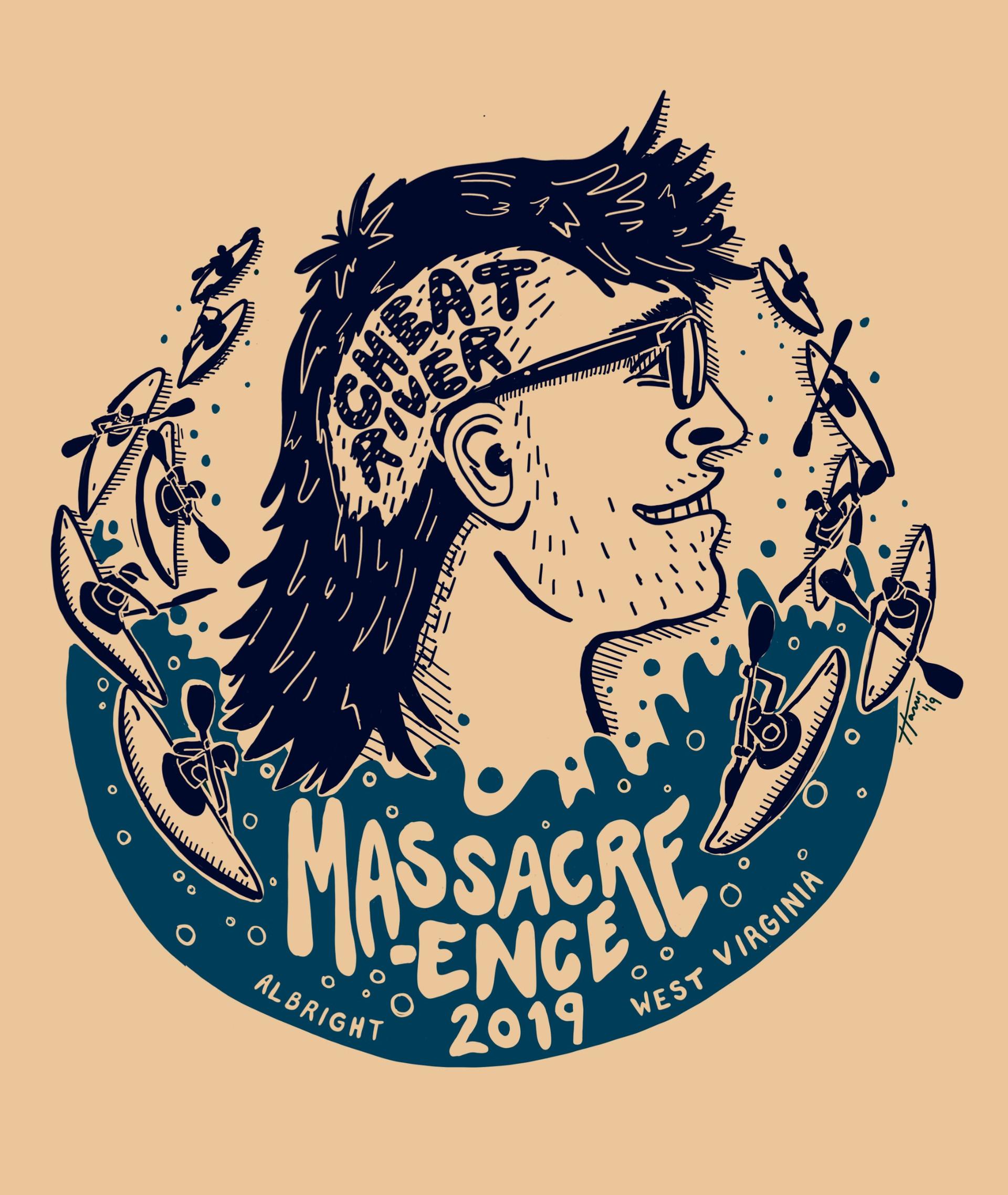 2019 Cheat River Massacre-ence Race T shirt design