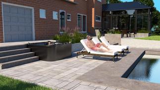 poolside landscape design - Manotick