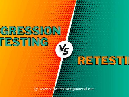 Regression v/s Re-Testing