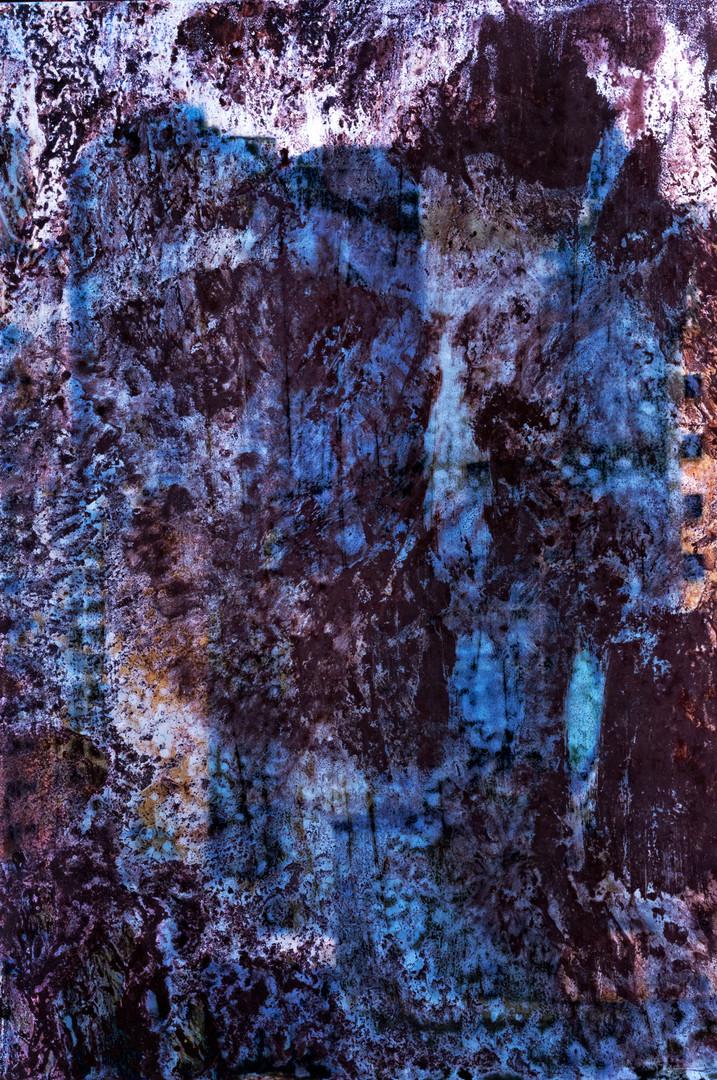 Paisagem urbana. Tinta óleo sobre papel fotografico. Photo: JulioKohl.
