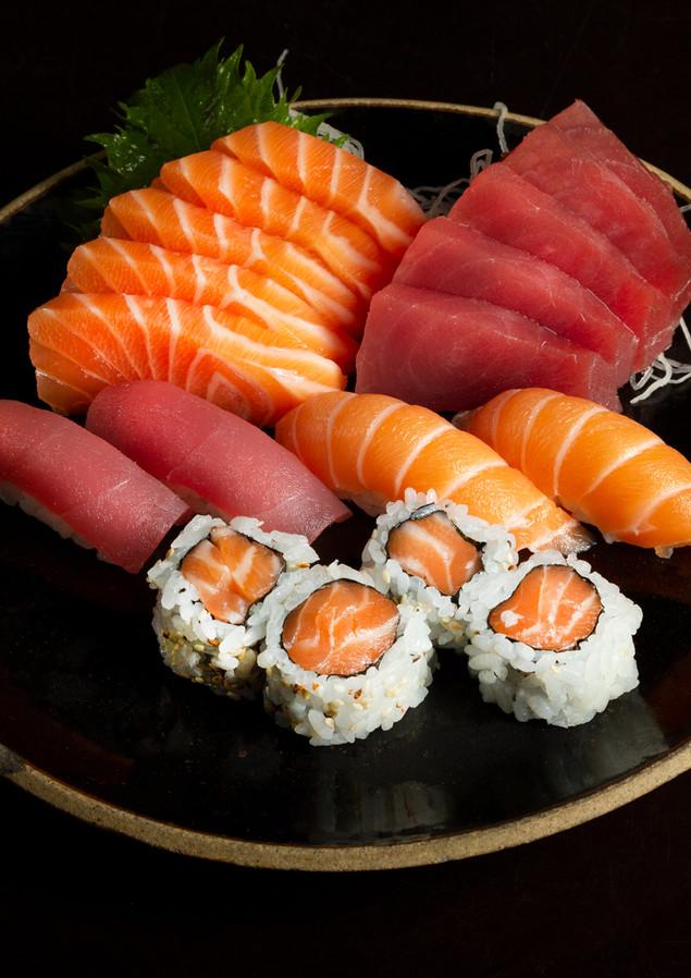 combinado de atum salmão Chef Frabrizio Matsumoto