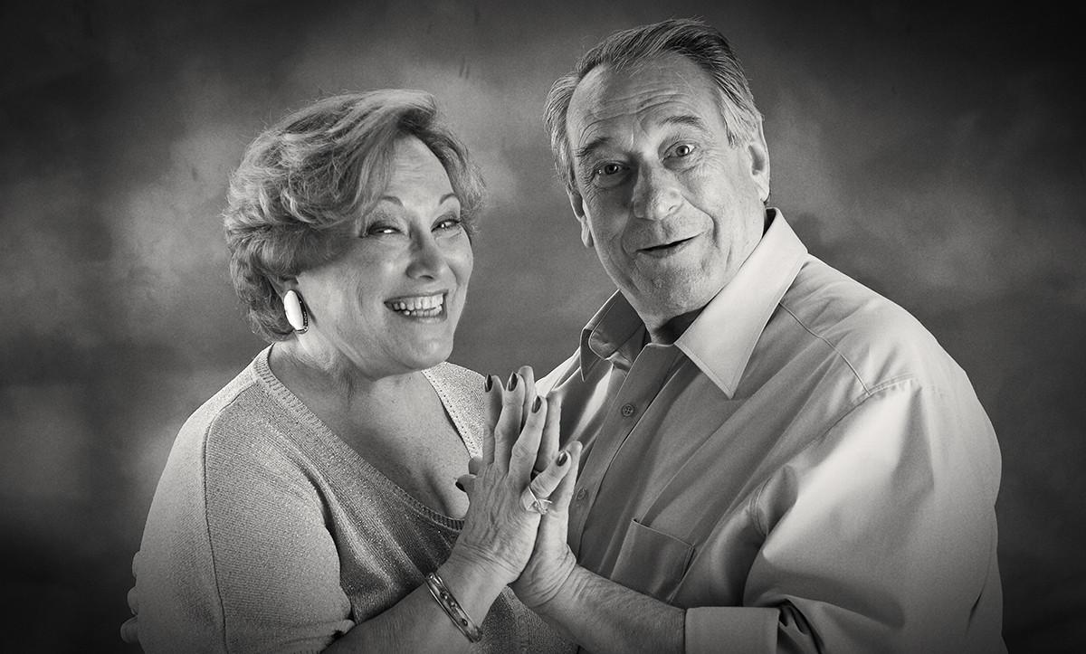Paulo Goulart & Nicette Bruno. / Fotografia: Julio Kohl.