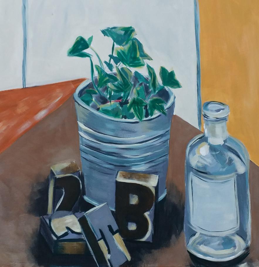 B, T, S (acrylic on canvas)
