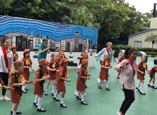 Brownies learn Bollywood dancing