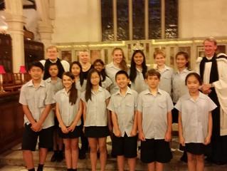 Final performance with Island School's Year 7 Training Choir
