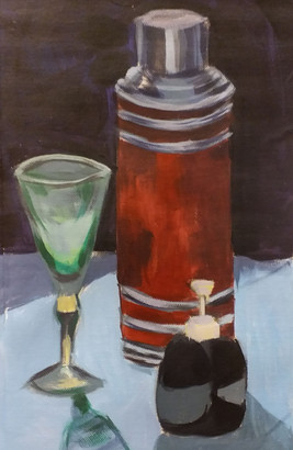 Green Glass (acrylic on canvas)