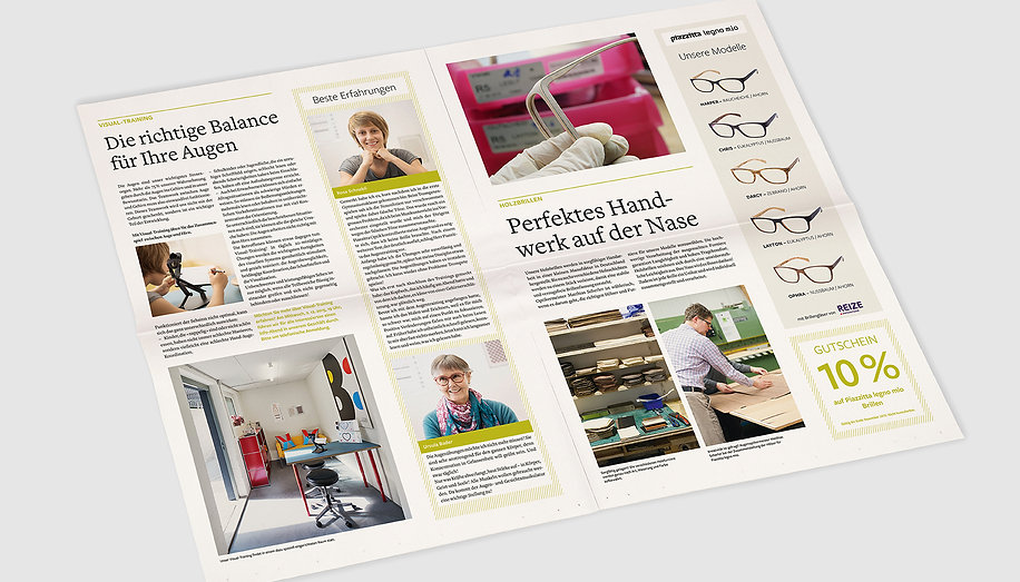 Kundenzeitung Piazzitta Optik