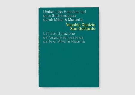 Buchgestaltung Gotthard Hospiz Cover