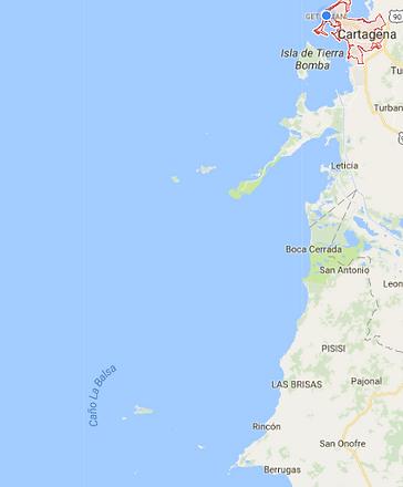 cartagena and islands map