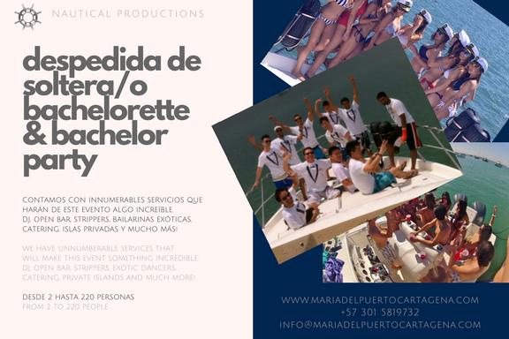 bachelor and bachelorette parties - despedida de solteros - barcos - cartagena