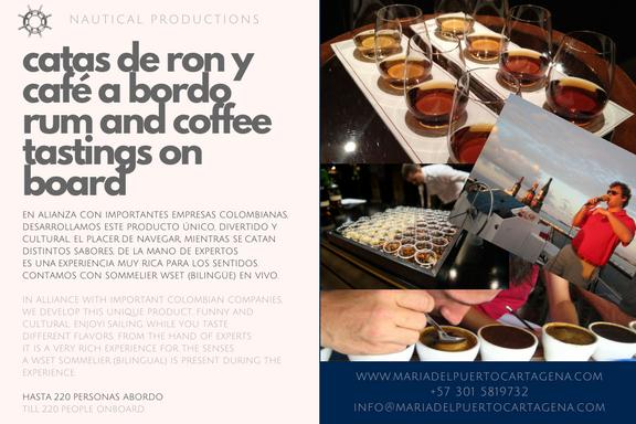 Corporaive Rum and Coffee tasting in boat - Bahía de Cartagea