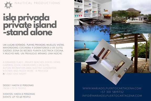 private island - isla privada - catagena
