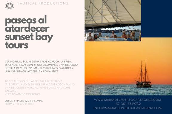 baytour - sunset - cartagea - paseo por la bahía - veleros - sailboats - catamaranes - catamarans - botes - boats - cartagena