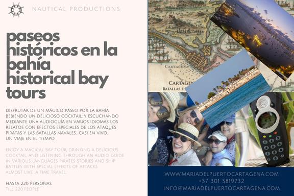 Historical Sunset Bay Tour - Cartagena - Paseo Histórico por la Bahía
