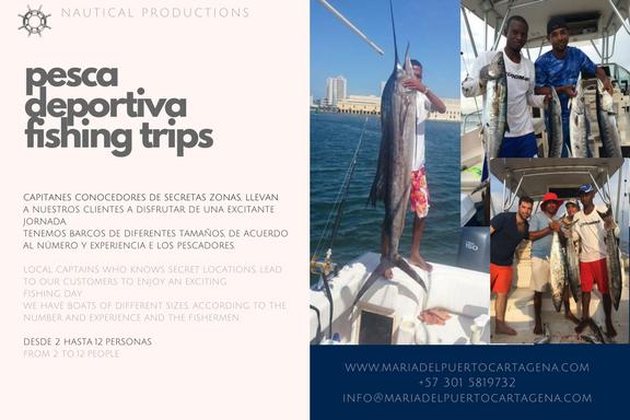 fishing charter cartagena - tour de pesca cartagena - pesca cartagena