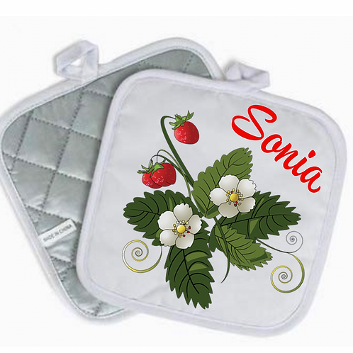 Strawberries Pot Holder (Personalized)