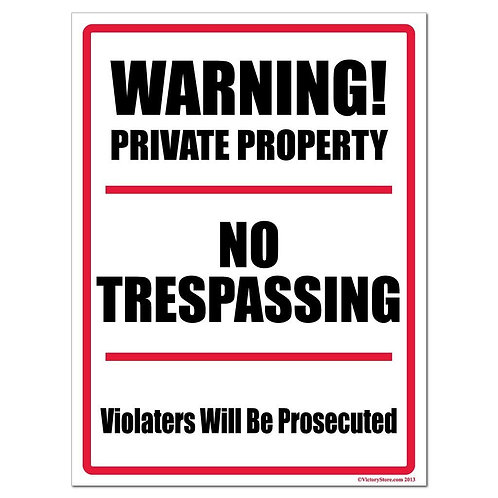 Private Property (Personalized)