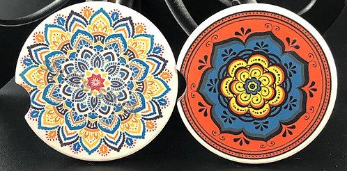 Mandala (Design 3) car coasters