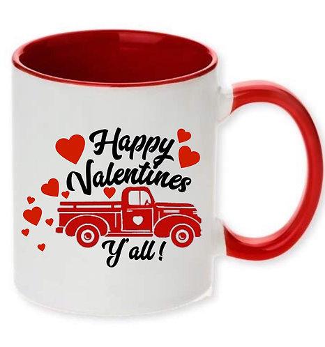 Happy Valentines Y'all Mug