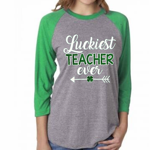 St. Patrick's Teacher Raglan