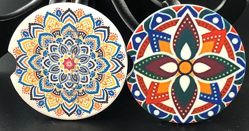 Mandala (Design 1) car coasters