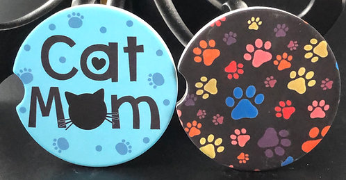 Cat Mom car coaster