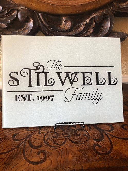 (Personalized) Family Cutting Board