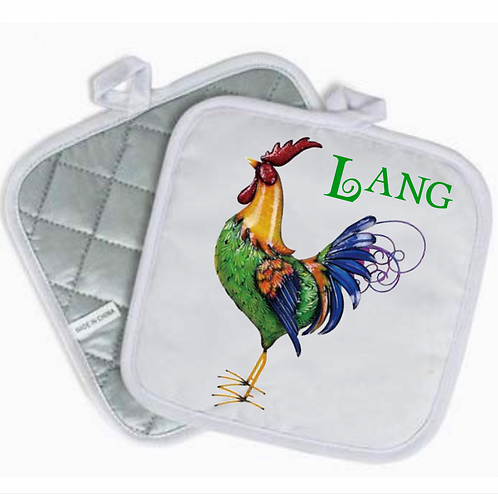Rooster Pot Holder (Personalized)