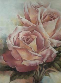 Three Pink Roses