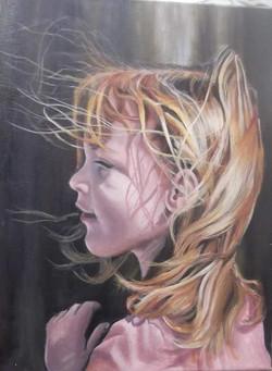 Zoe in the Wind