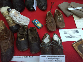 Children's shoes; passed down the line through big families