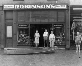 Downtown business during Flood of '47