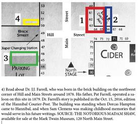 Walk the Walk that Dorcas Hampton Walked: Farrell saloon, NW corner of Hill and Main 1879