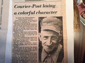 1978: Louie Keithley. Many hands have contributed to Courier-Post's rich history