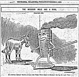 Mules, corn cob pipes: Missouri legendary lore