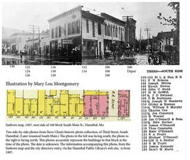 Snapshot of 100 block of Third Street, South Hannibal (South Main) circa 1907