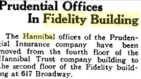1919: Prudential moves to new office suite