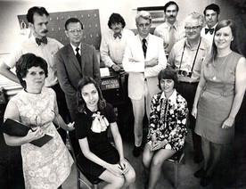 Courier-Post news staff, circa 1974