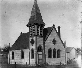 The original Oakwood Methodist Church