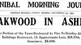 Nov. 14, 1901: Fire left Oakwood in ashes