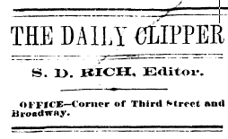 Hannibal Clipper Dec. 11, 1875: Burglar stole 'family' groceries