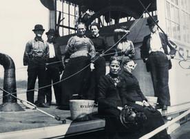 Romance among the log rafts during lumber harvesting days